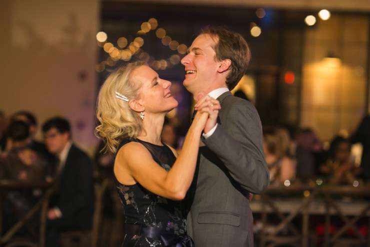 Mother son dance during Atlanta wedding reception.