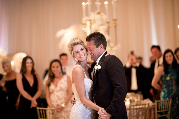 Couple's first dance at Mar-a-Lago wedding reception in Palm Beach.