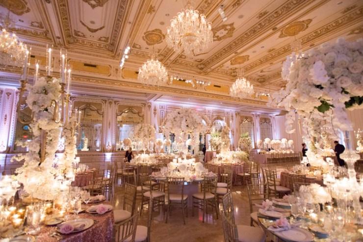 Wedding reception at Mar-a-Lago in Palm Beach.