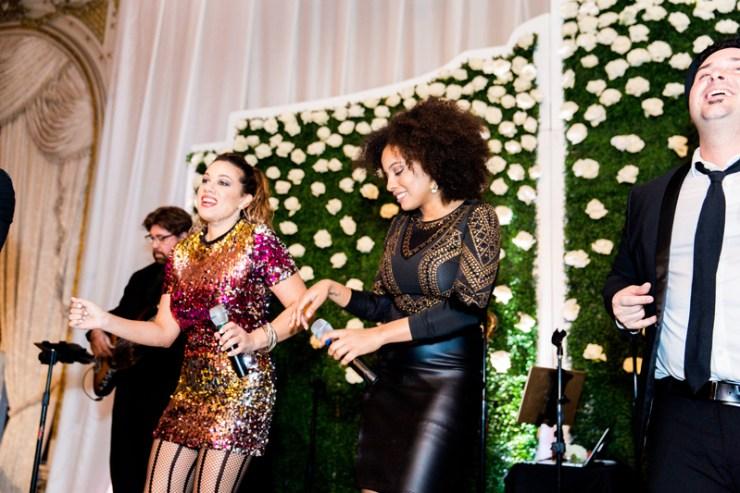 Powerhouse wedding band performing at a Palm Beach wedding at Mar-a-Lago resort.