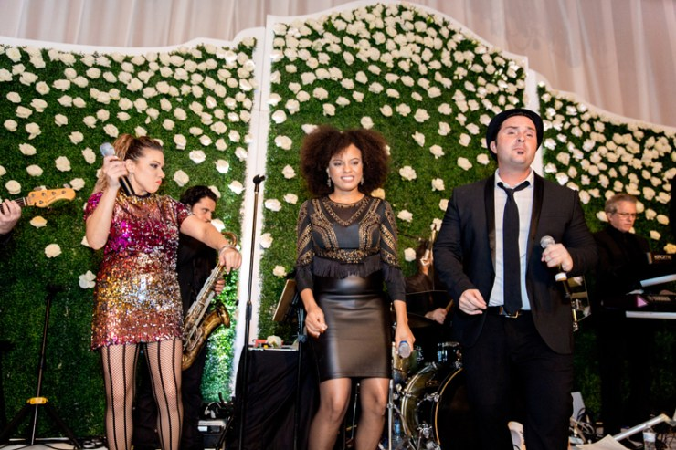Powerhouse band performing at a Palm Beach wedding at Mar-a-Lago