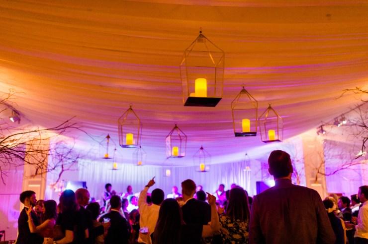 Evolution Party Band performing during wedding reception at Roaring Gap club wedding.