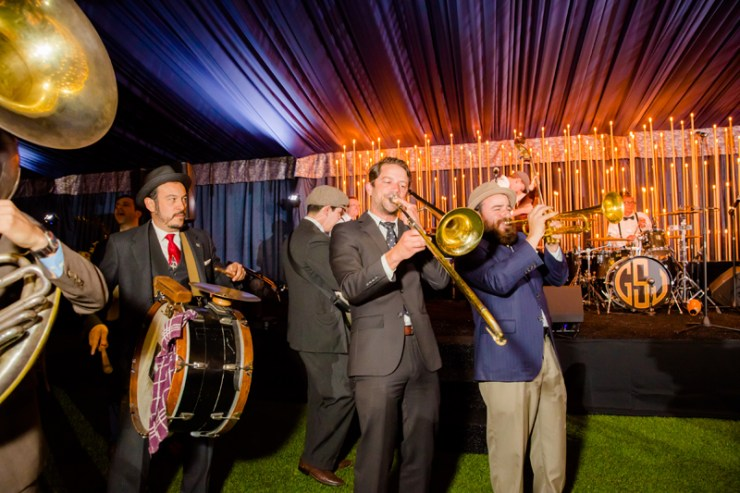 Good Shot Judy and California Feetwarmers band at a New Orleans theme corporate event.