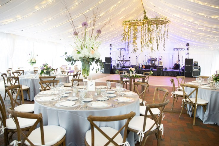 Tented wedding reception at Biltmore.