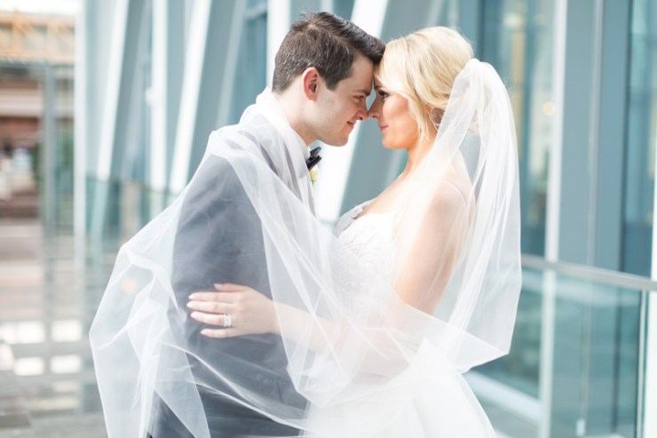Bride and Groom at Ritz-Carlton Charlotte wedding.