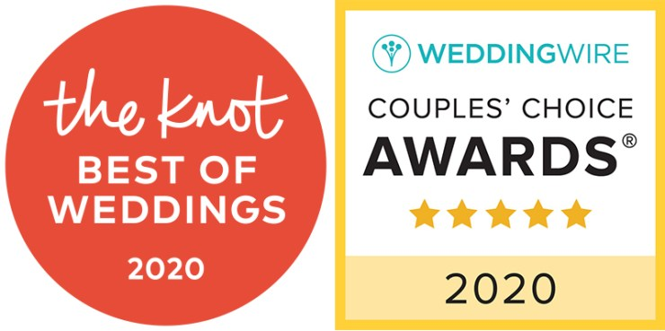 The Knot Best of Wedding Award and Wedding Wire Couples Choice Award