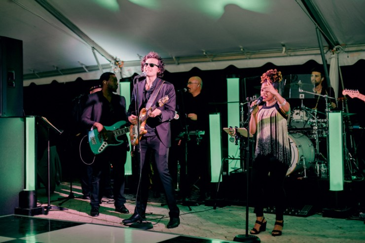Night Years band performing at Raleigh wedding