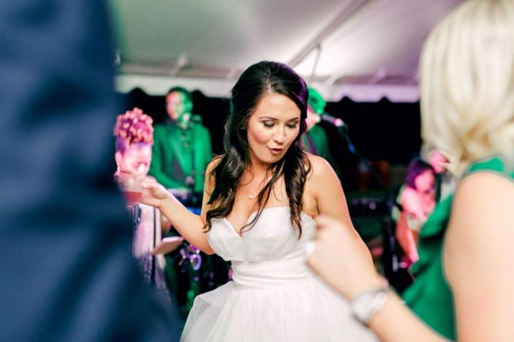 Bride dancing to Raleigh wedding band Night Years