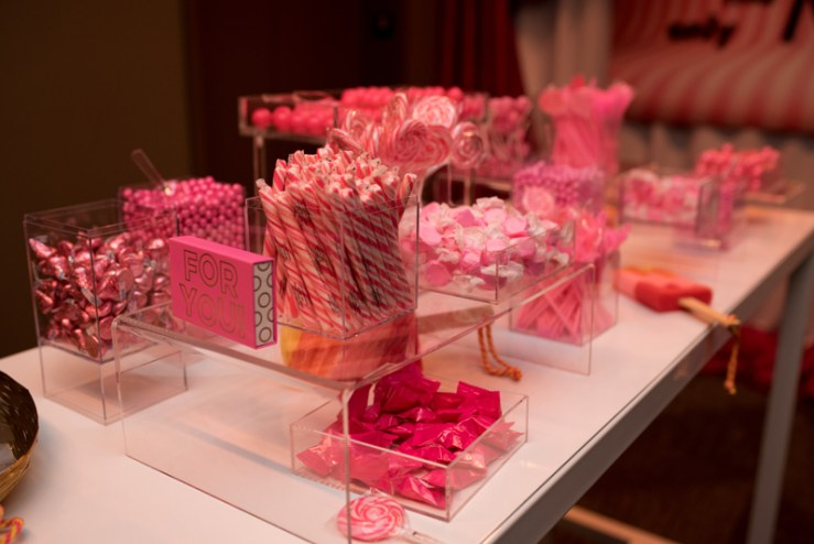Candy bar display at Country Music Hall of Fame wedding in Nashville.