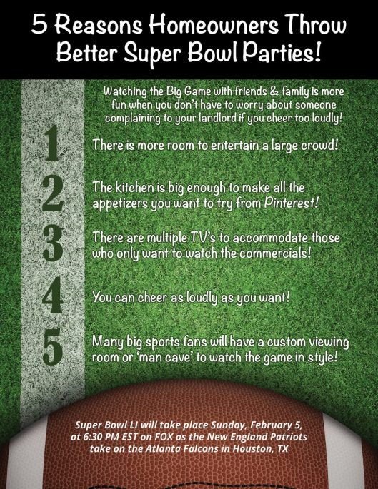 5 Reasons Homeowners Throw Better Super Bowl Parties! [INFOGRAPHIC]   MyKCM