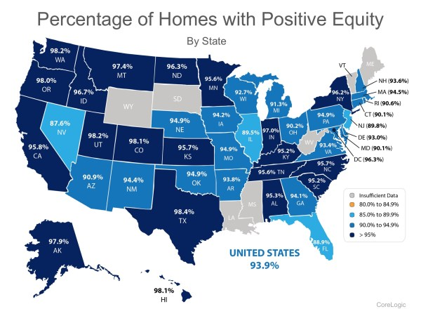 93.9% Of Homes in The US Have Positive Equity | MyKCM