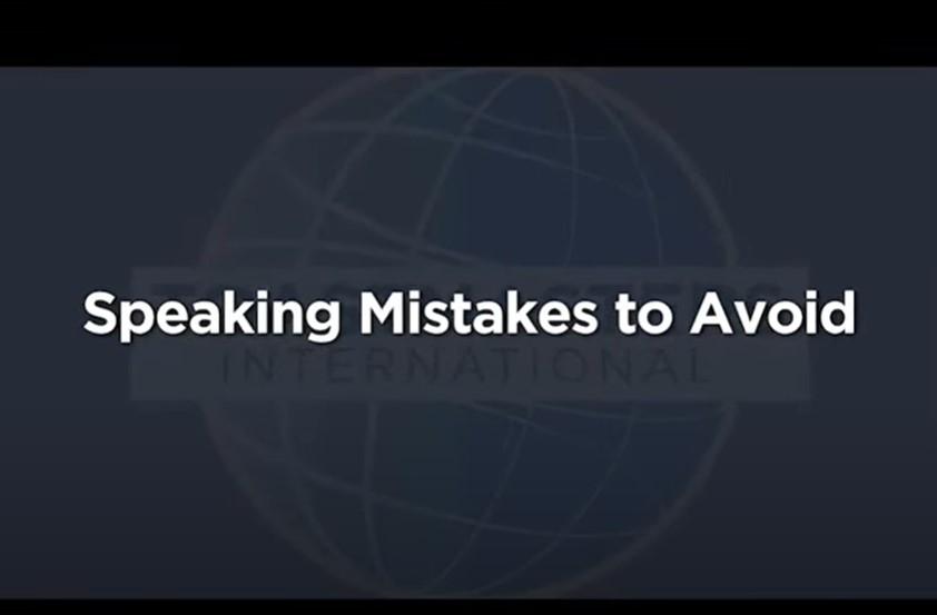 Speaking Mistakes to Avoid