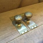Ribbed Brass Door Knob Back Plate Sets Authentic Reclamation