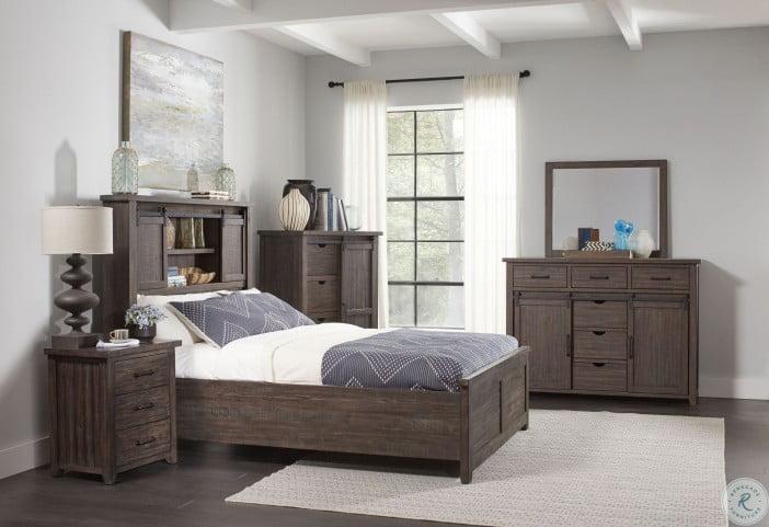 madison county barnwood barn door storage panel bedroom set