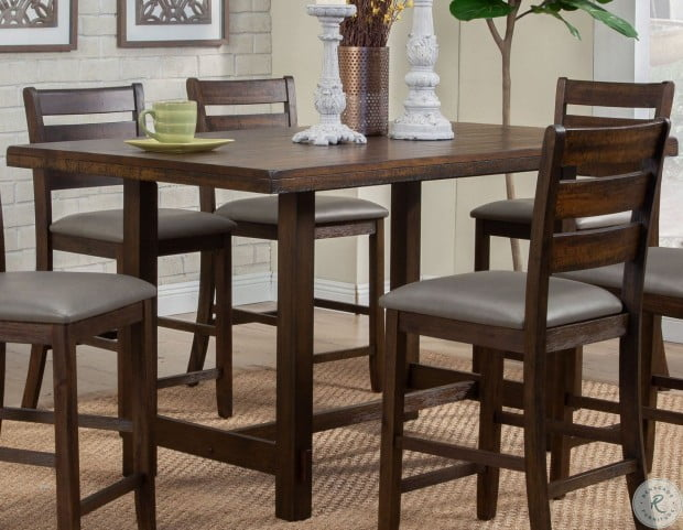 Emery Walnut Pub Height Dining Table From Alpine Coleman Furniture