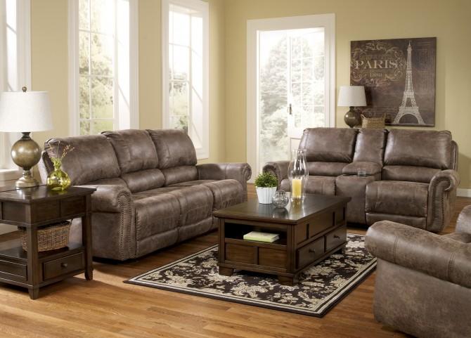 Oberson Gunsmoke Power Reclining Living Room Set From
