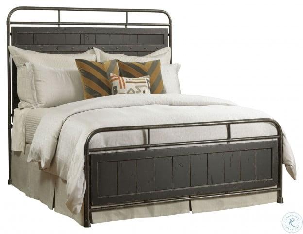 mill house folsom anvil black metal panel bedroom set