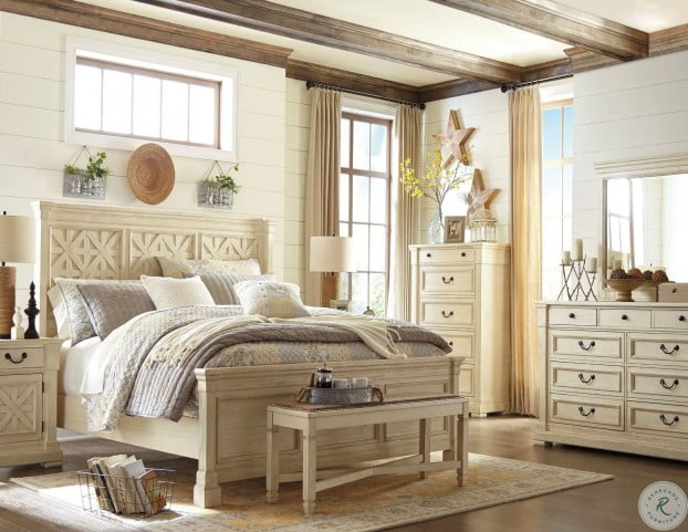 bolanburg white panel bedroom set