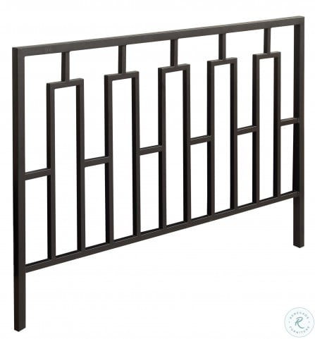 2616q satin black queen full size metal headboard footboard