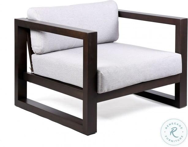 paradise dark gray fabric outdoor patio lounge chair