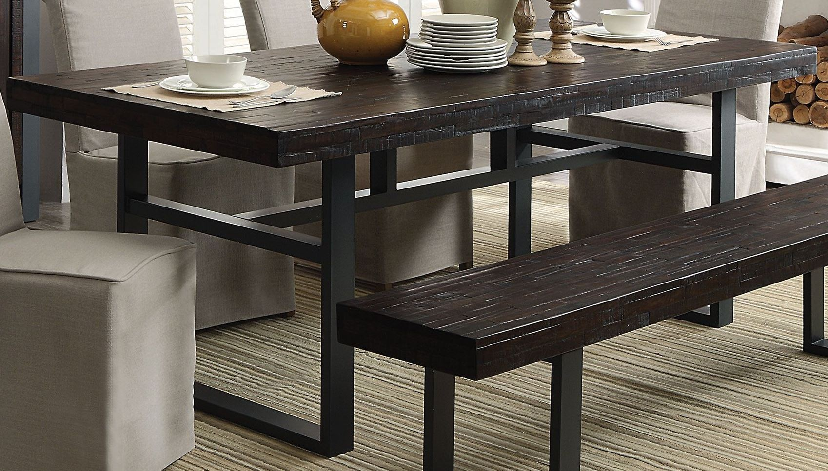 Keller Reclaimed Wood Dining Table, 106941, Coaster Furniture