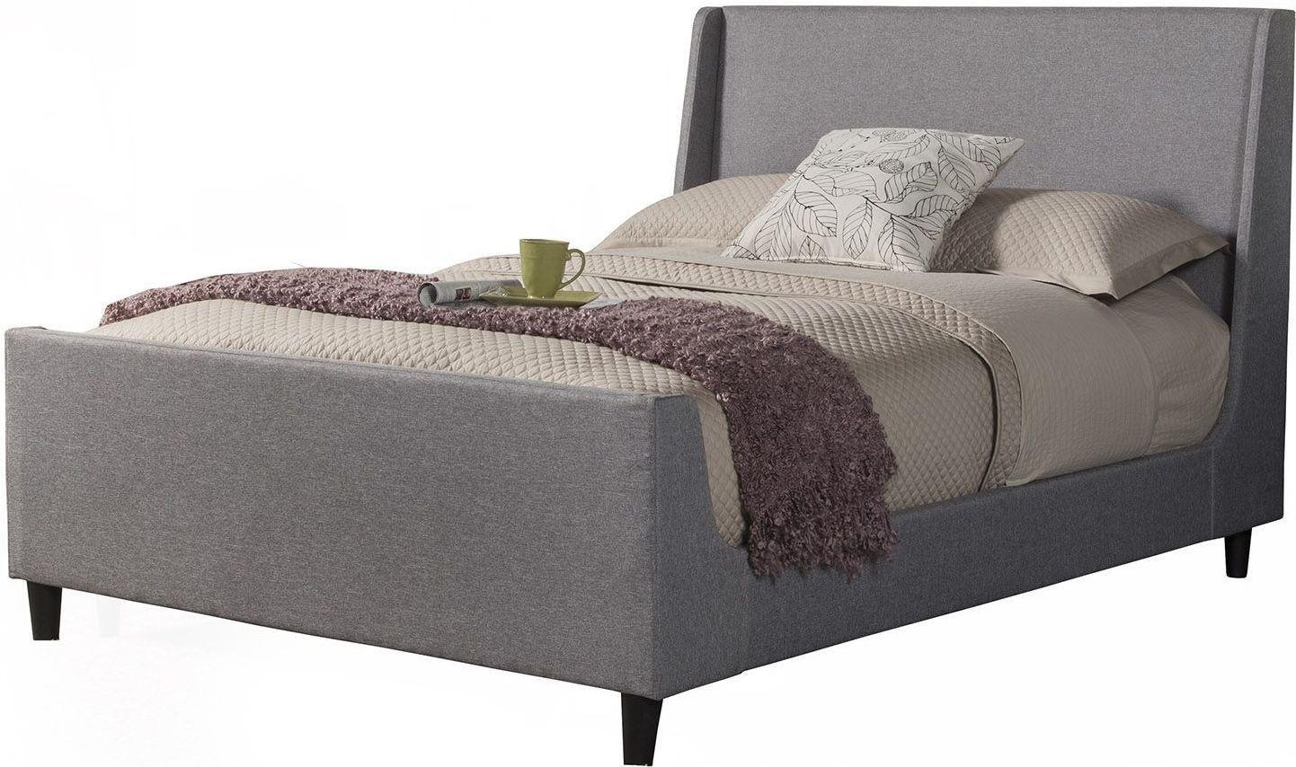 Amber Linen Upholstered Cal King Platform Bed Ck Alpine