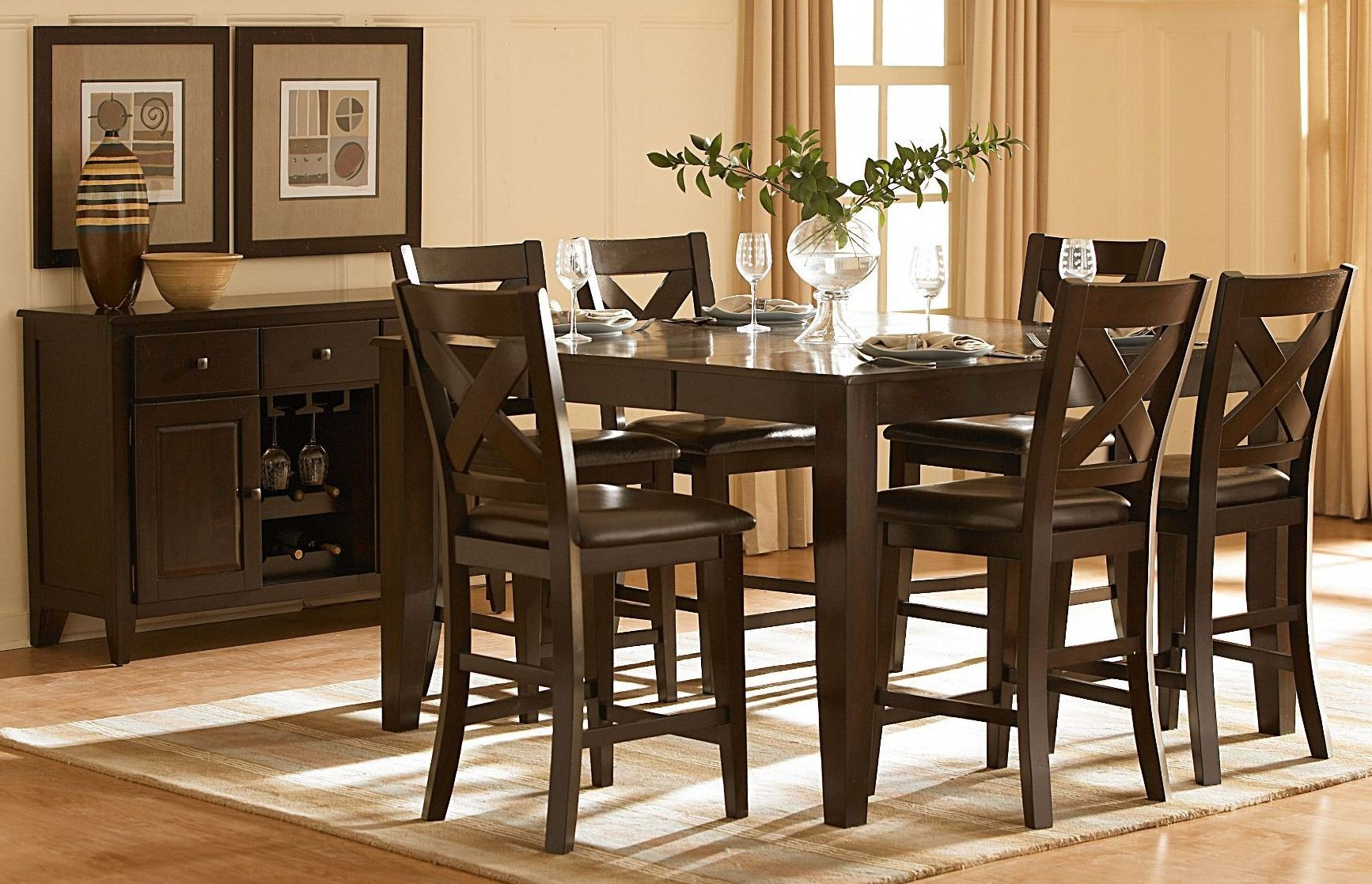 Crown Point Counter Height Dining Room Set From
