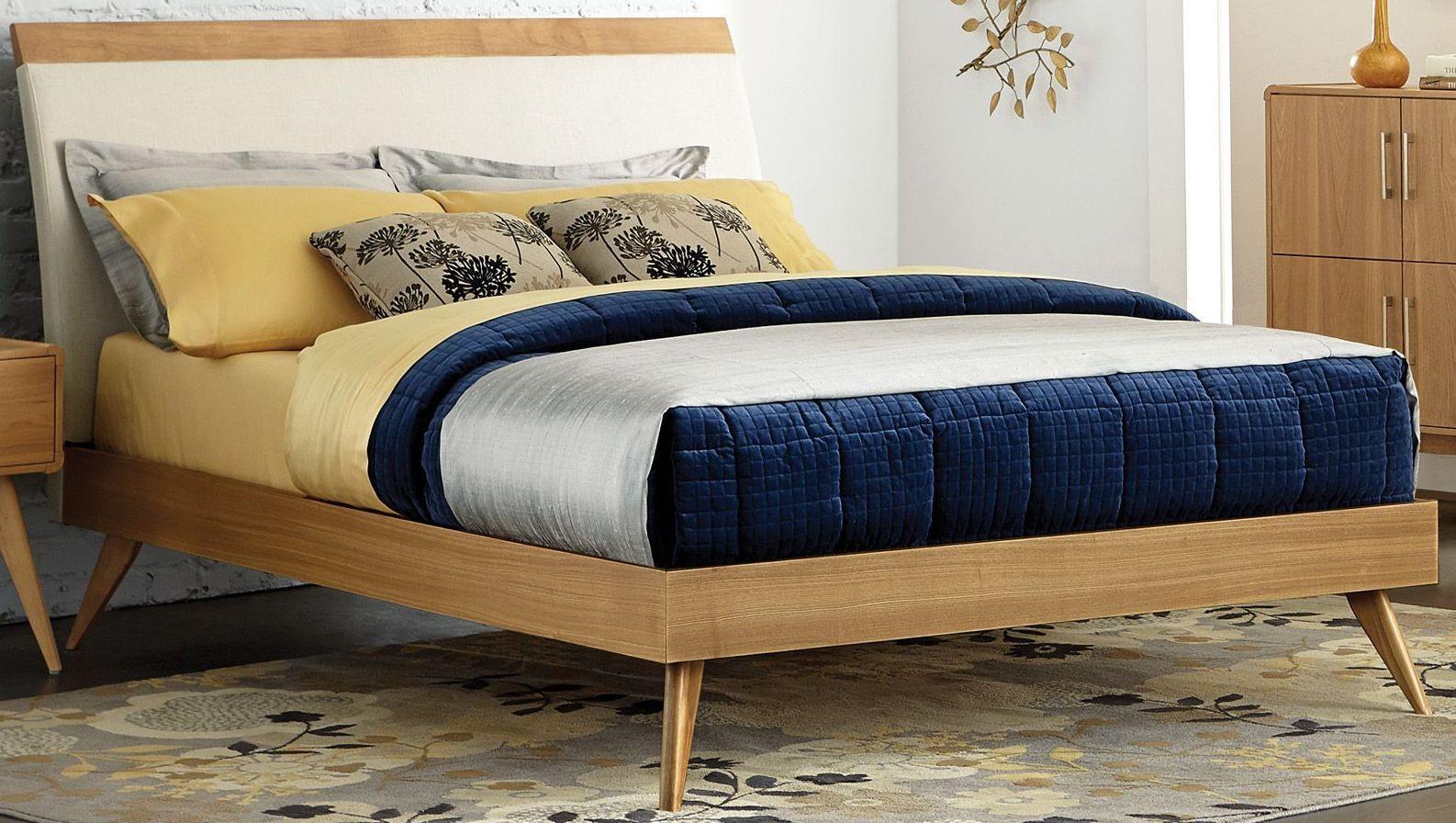 Anika Brown King Upholstered Platform Bed From Homelegance