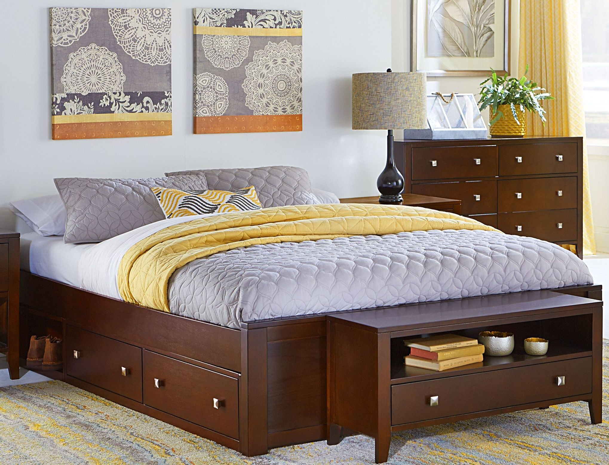 Pulse Cherry King Platform Bed With Storage From Ne Kids