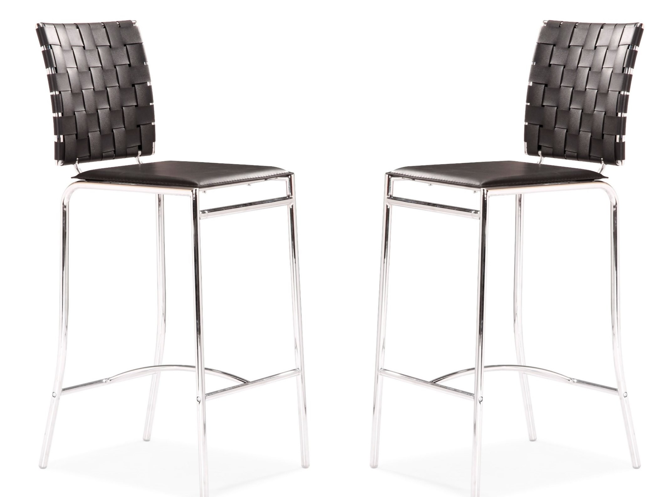 Criss Cross Counter Chair Black Set Of 2 From Zuo Mod