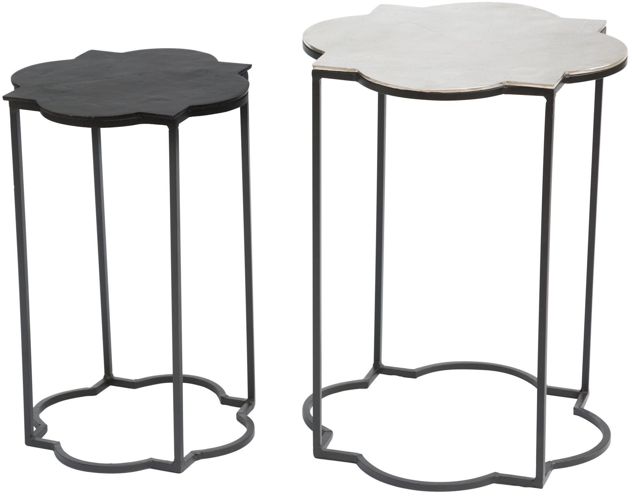 Brighton Black And White Accent Table From Zuo