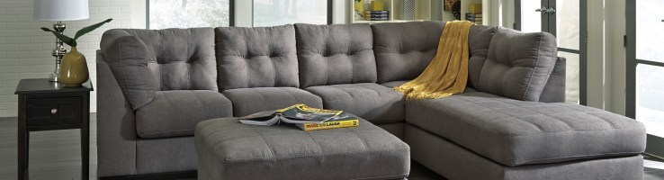 Maier Charcoal Raf Sectional From Ashley 45200 17 66 Coleman Furniture