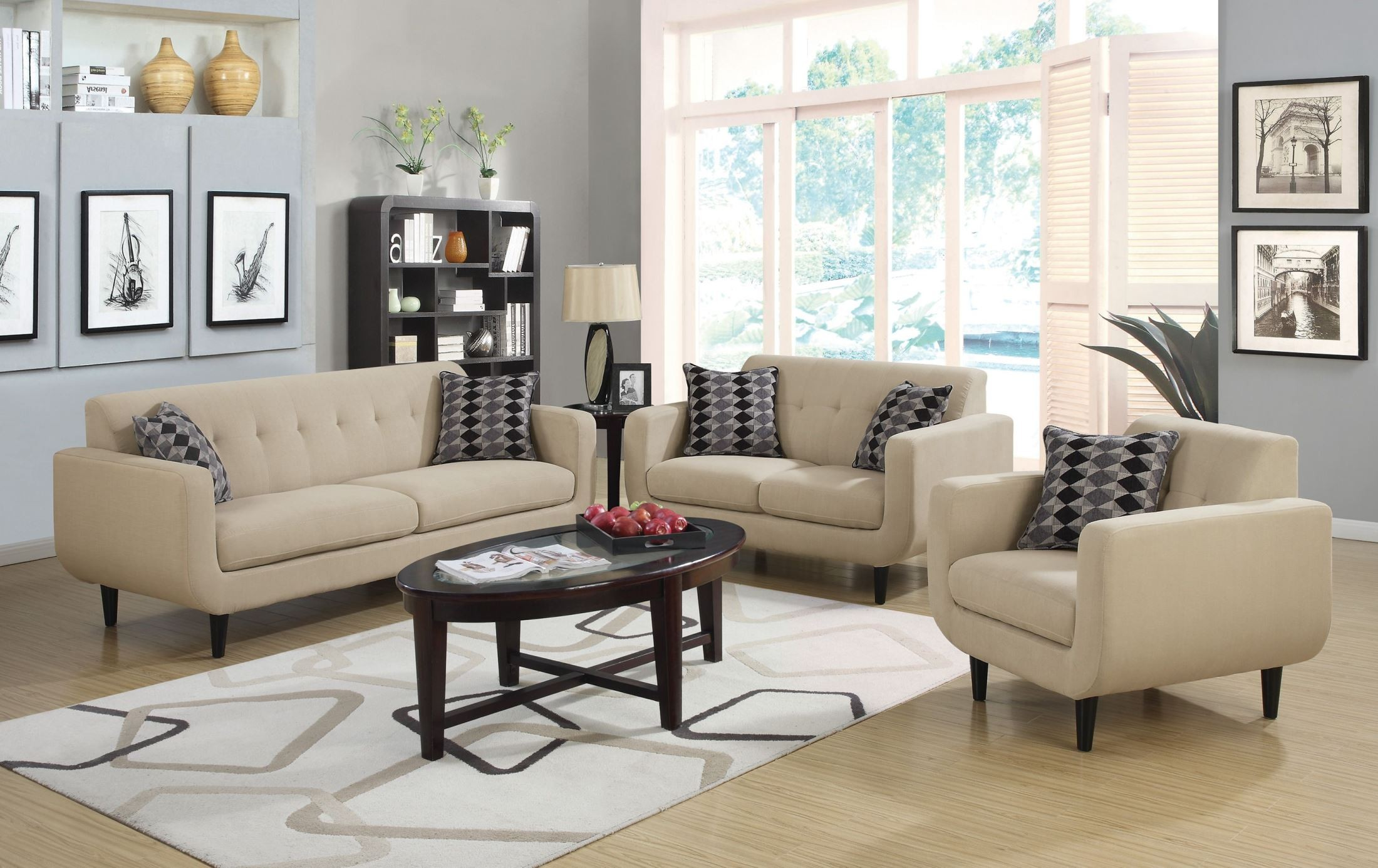 Stansall Ivory Living Room Set From Coaster (505204