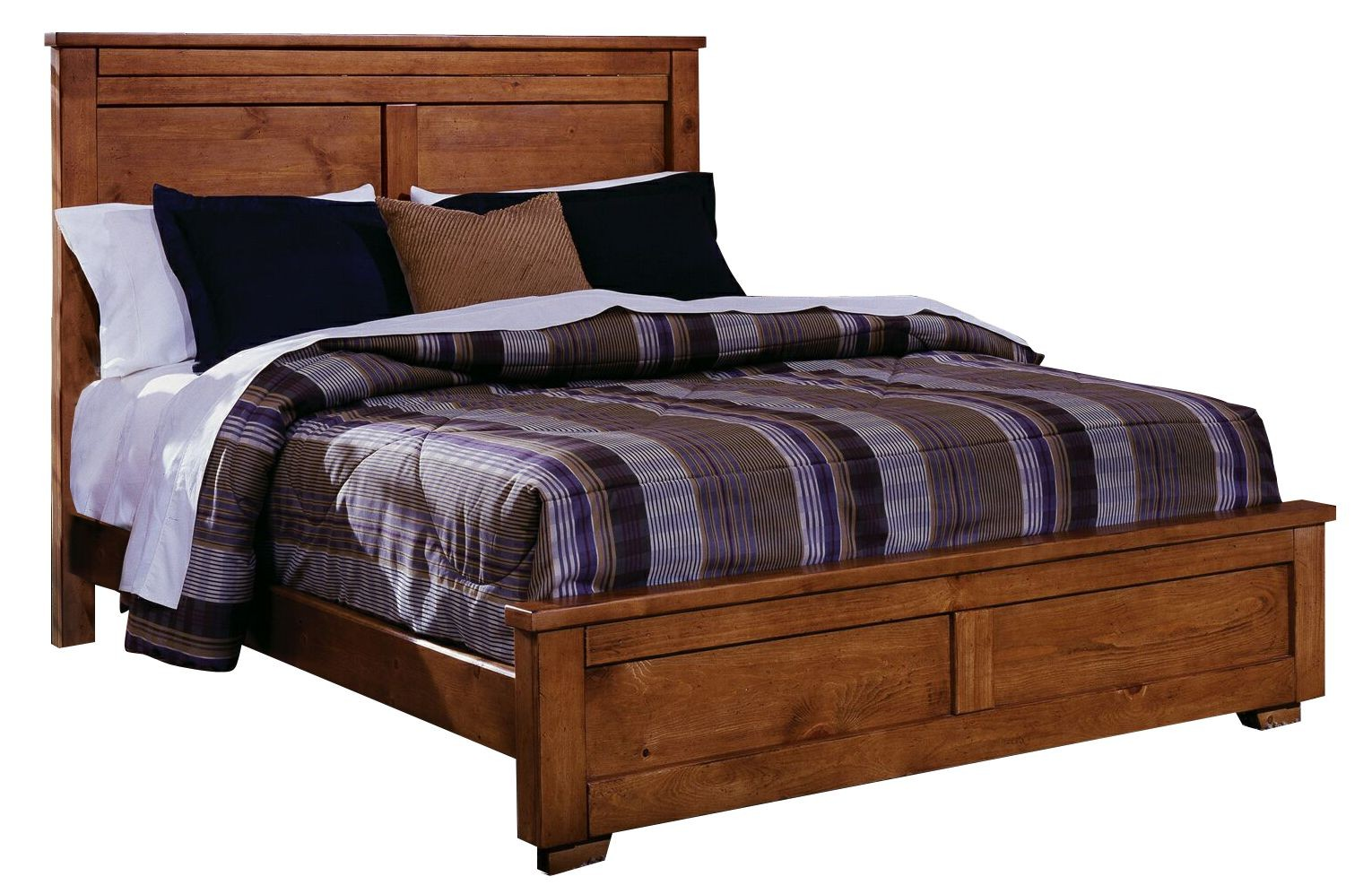 Go Cinnamon Pine King Panel Bed From Progressive