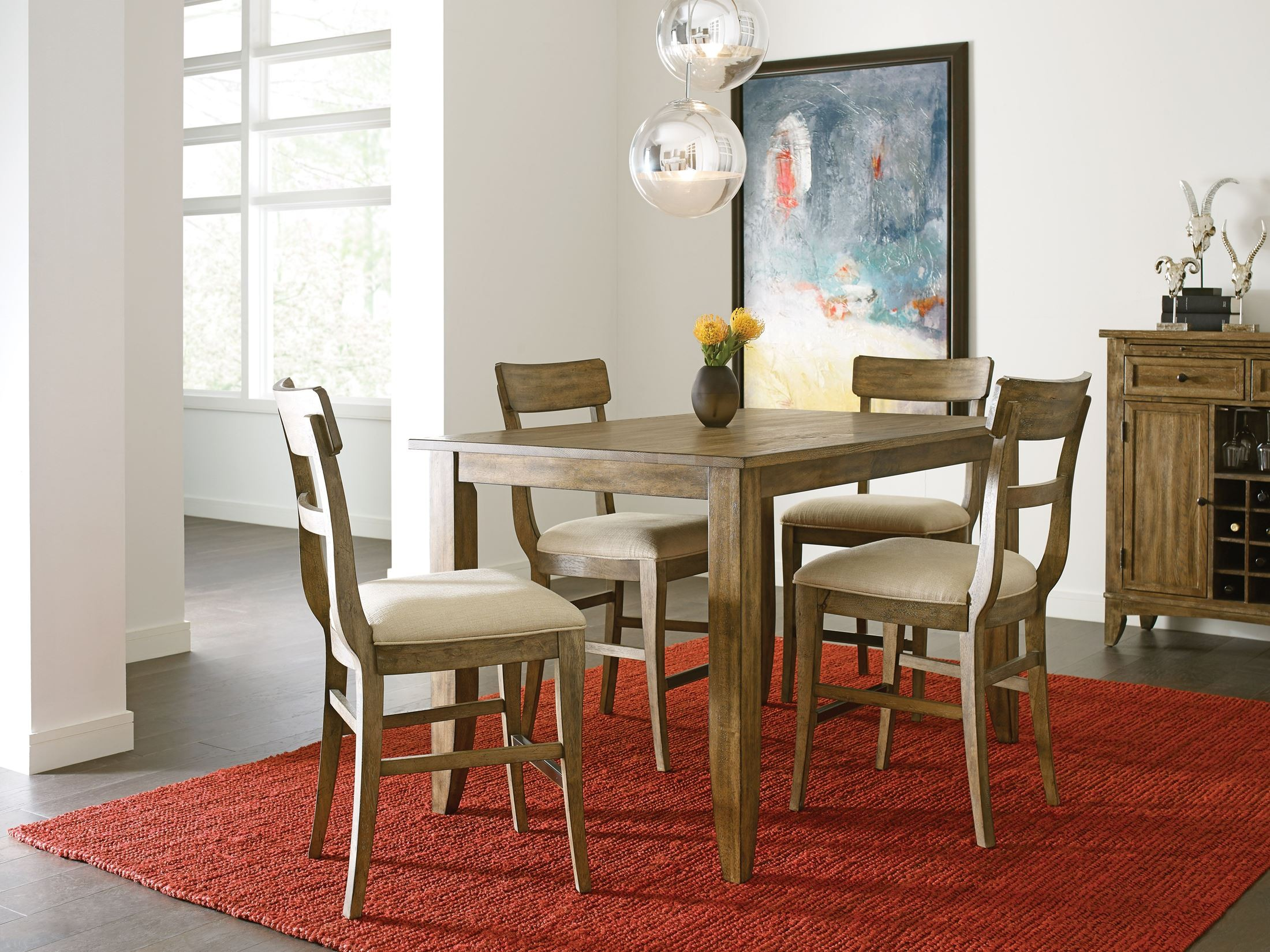 The Nook Oak 60 Counter Height Dining Room Set From