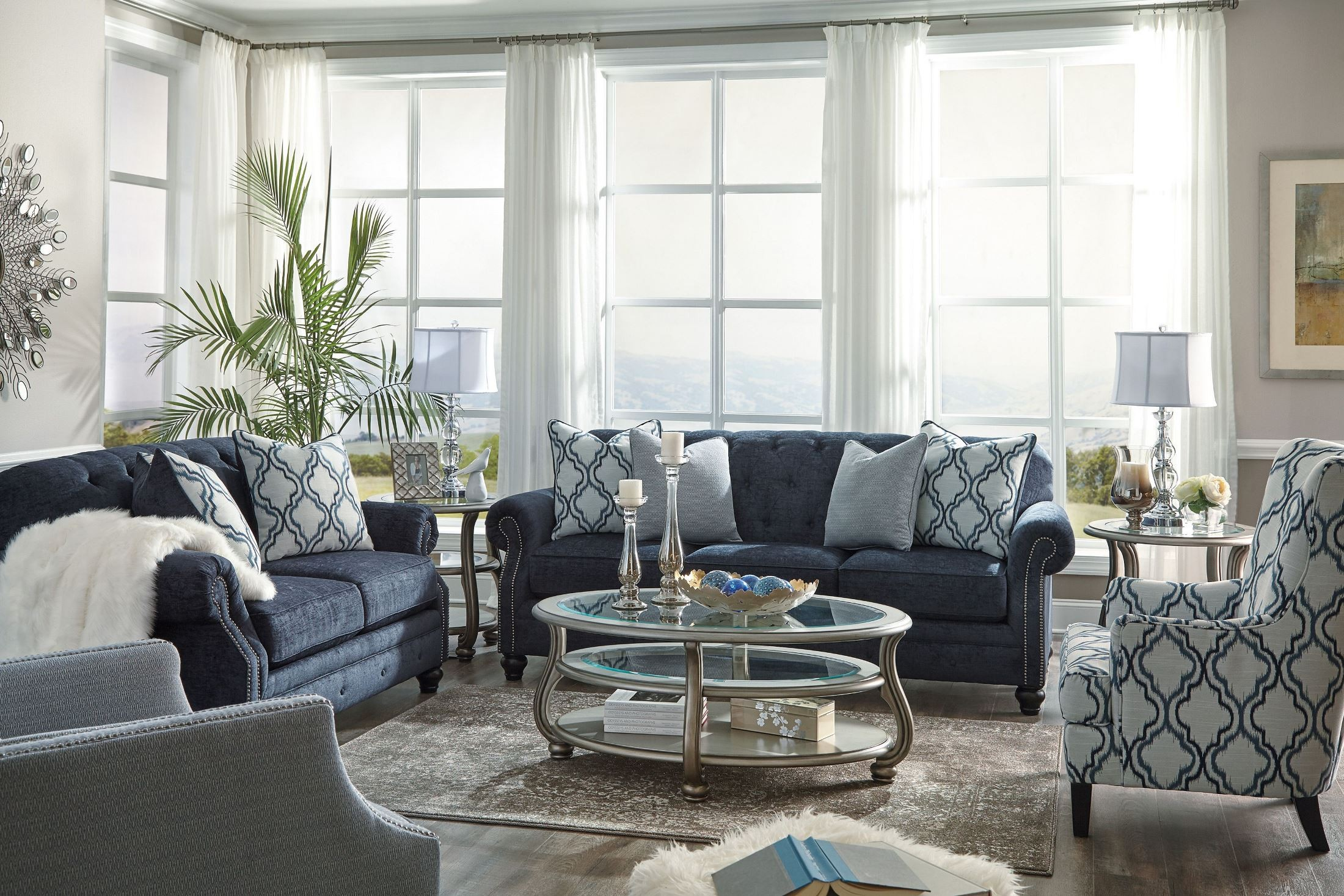 LaVernia Navy Living Room Set From Ashley Coleman Furniture