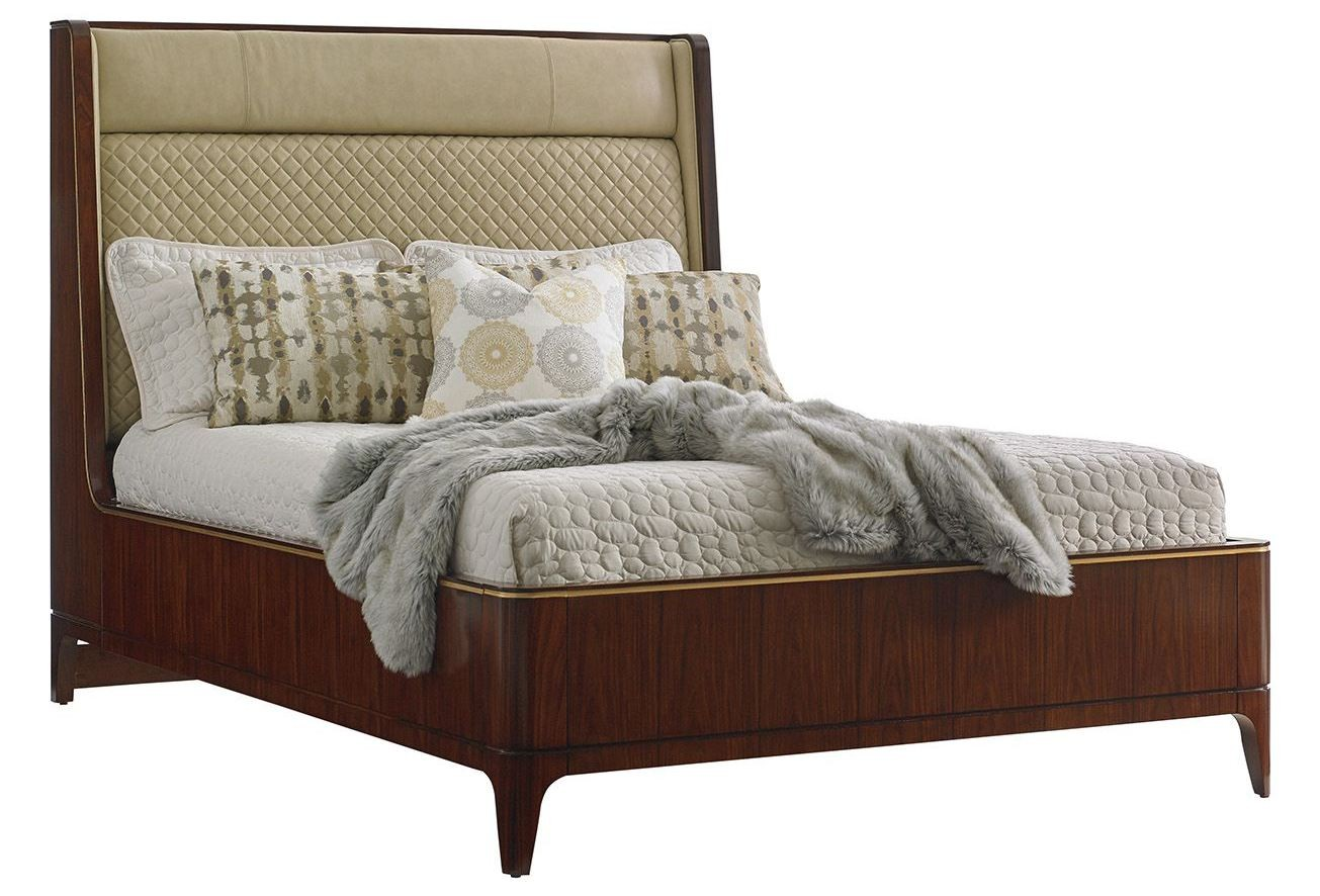 Take Five Empire Cal King Upholstered Platform Bed From
