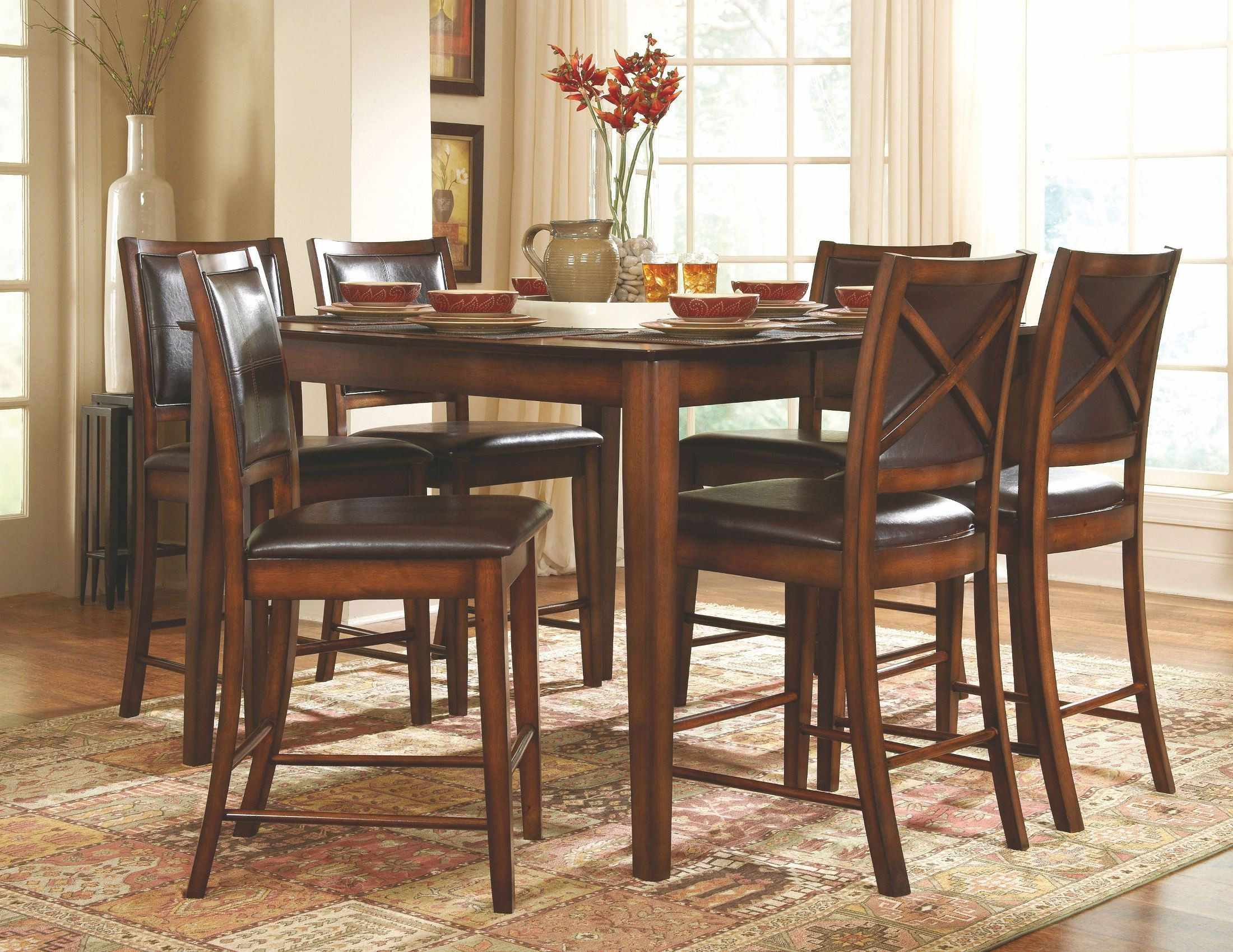 Verona Extendable Counter Height Dining Room Set From