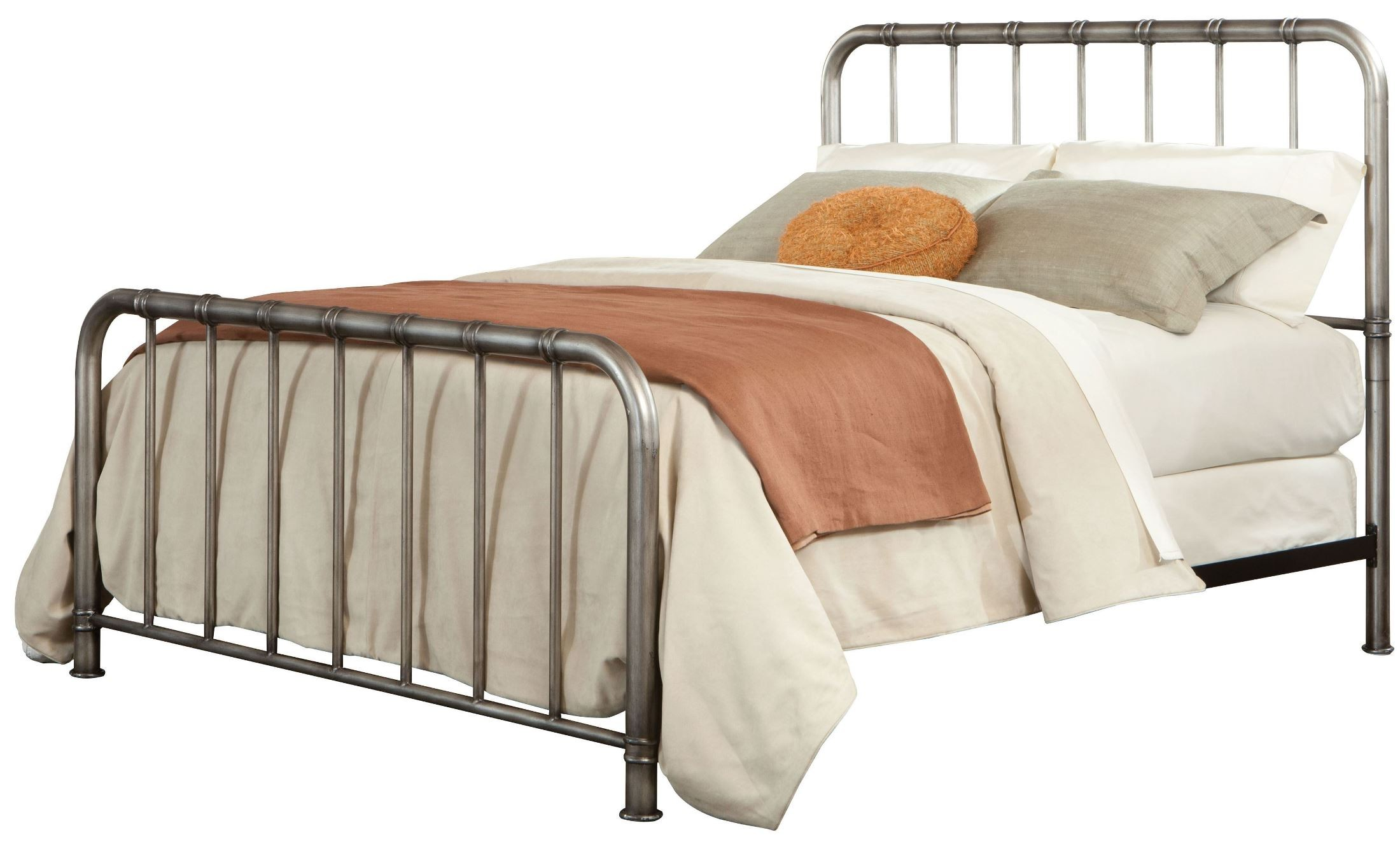Tristen Antique Pewter Queen Metal Bed From Standard