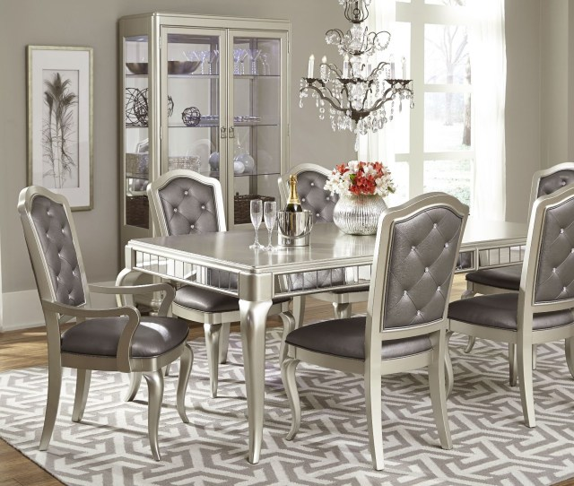 Diva Rectangular Extendable Leg Dining Room Set From Samuel Lawrence 8808 135 Coleman Furniture