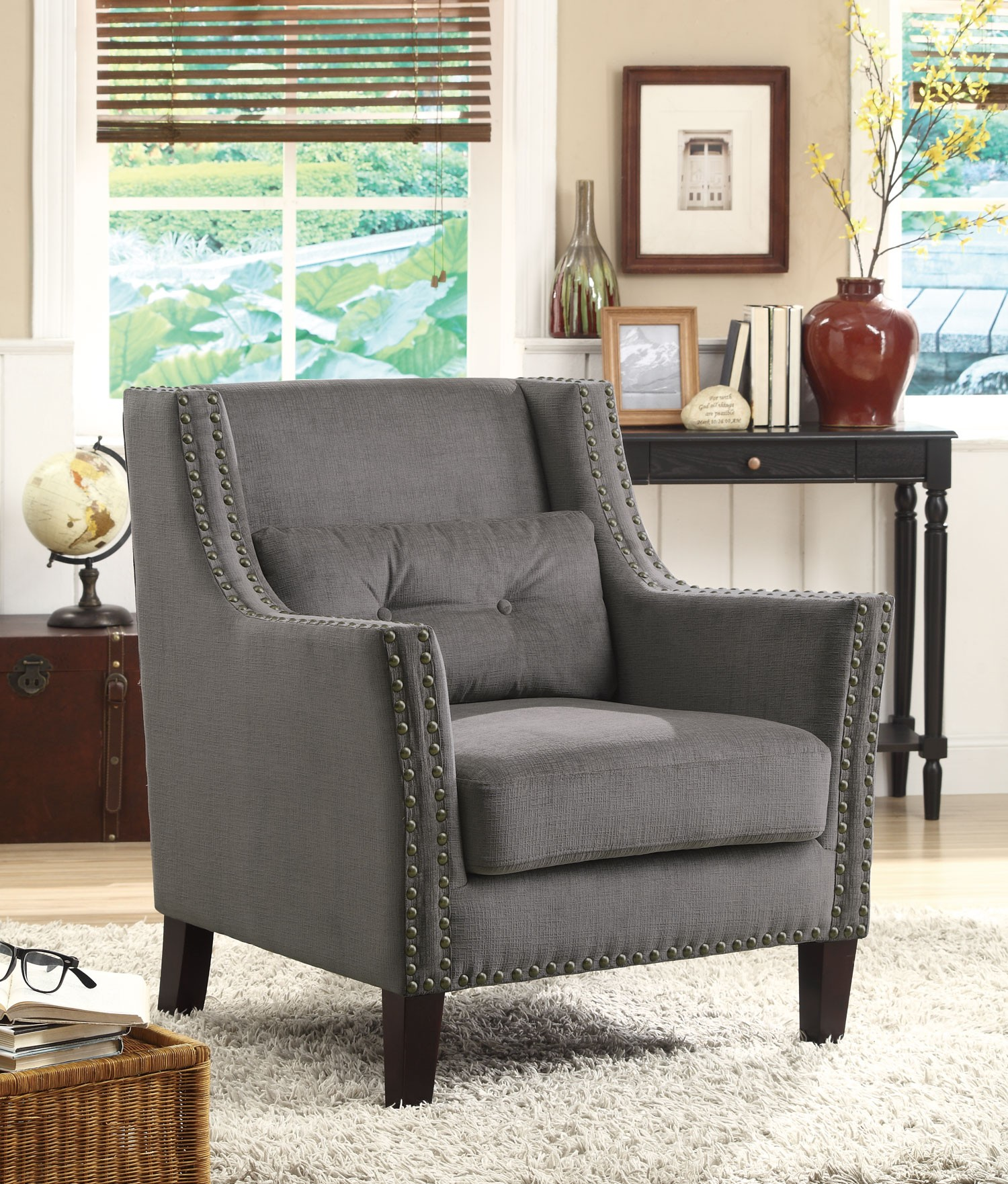 Grey Accent Chair From Coaster