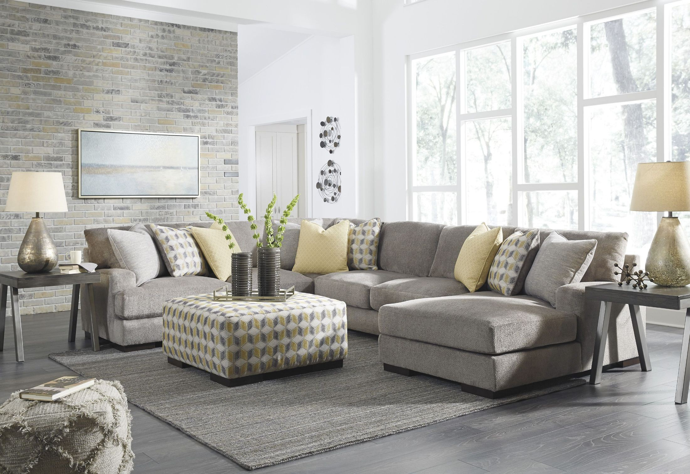 Fallsworth Smoke RAF Sectional From Ashley Coleman Furniture