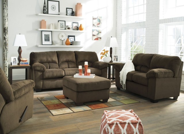 Dailey Chocolate Living Room Set from Ashley (9540338 ...