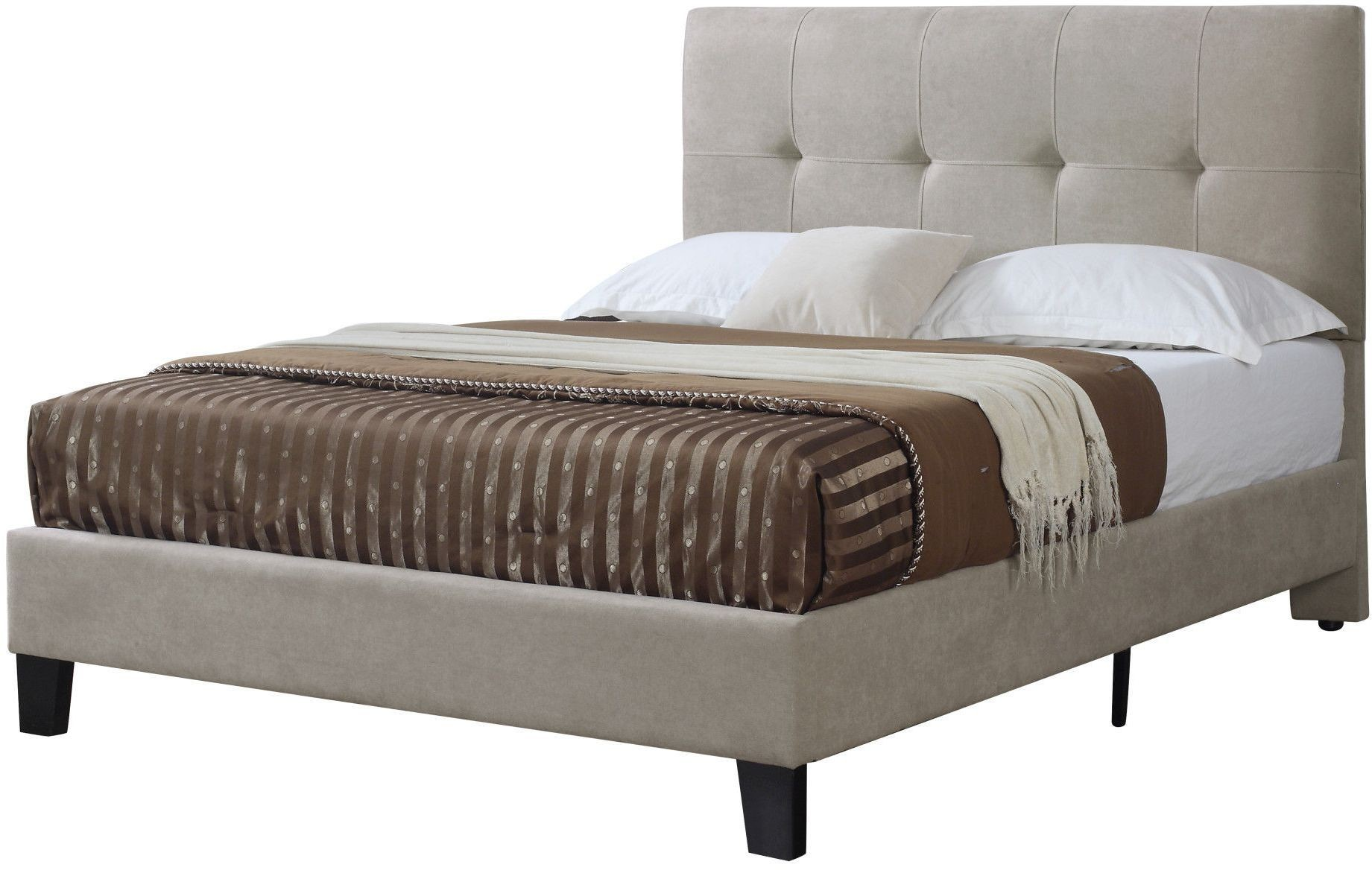 Harper Taupe Cal King Upholstered Platform Bed From
