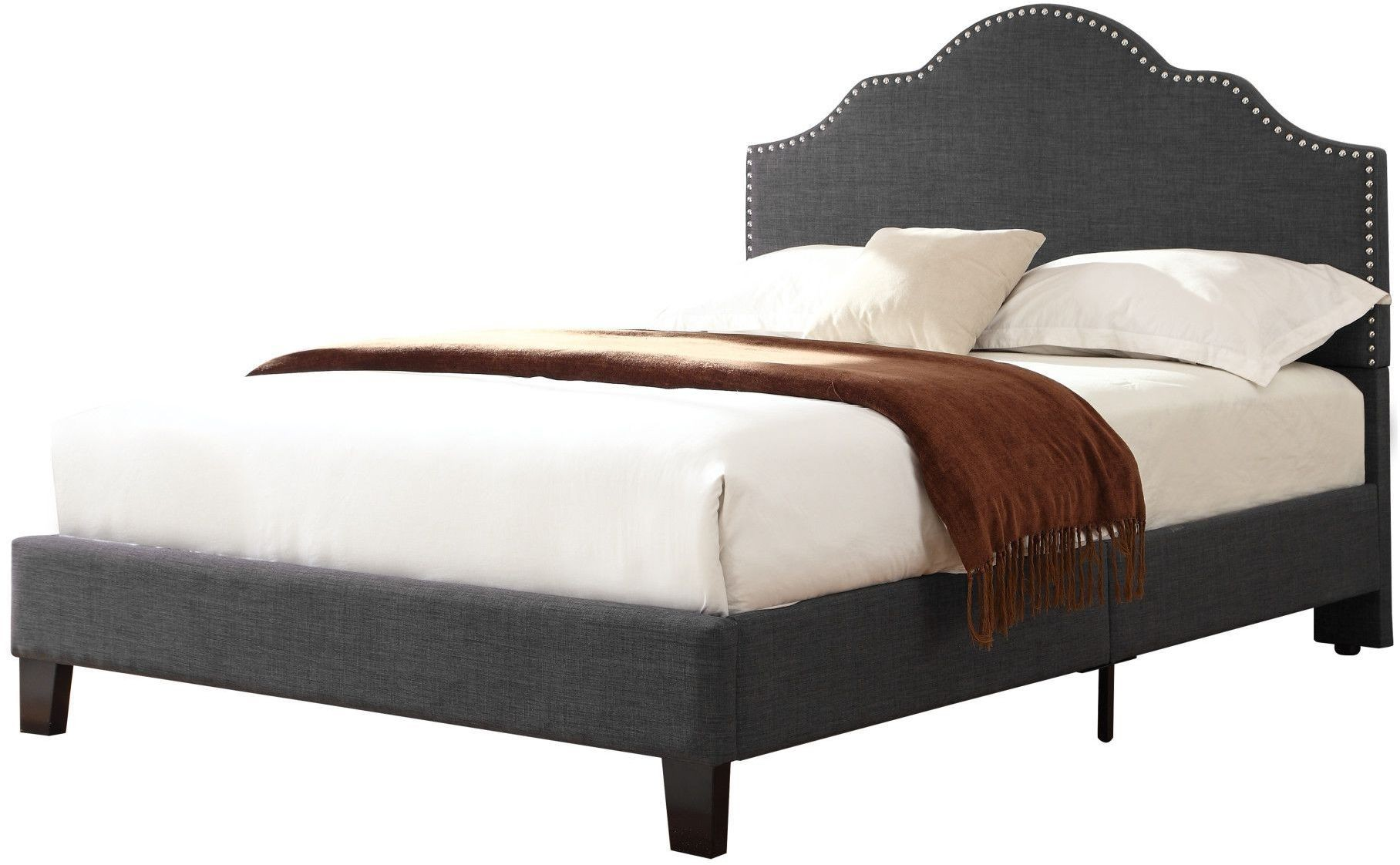 Madison Charcoal Cal King Upholstered Platform Bed From