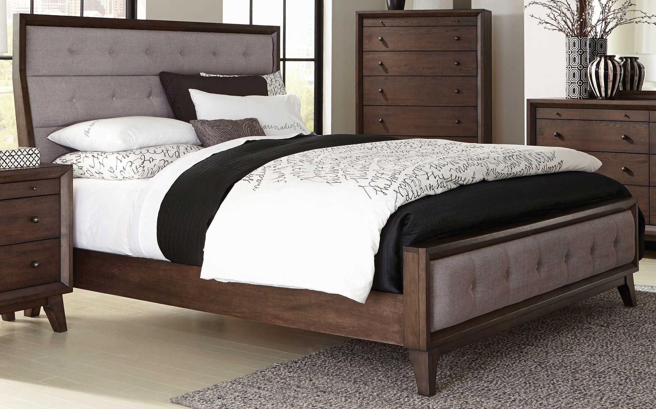 Bingham Brown Oak King Panel Bed From Coaster