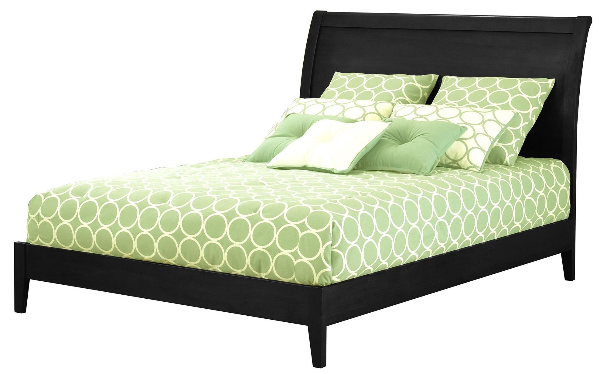 Java Black And Cherry King Ornamental Platform Bed B51e36