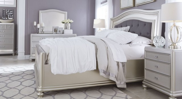 Coralayne Silver Bedroom Set from Ashley B650 157 54 96