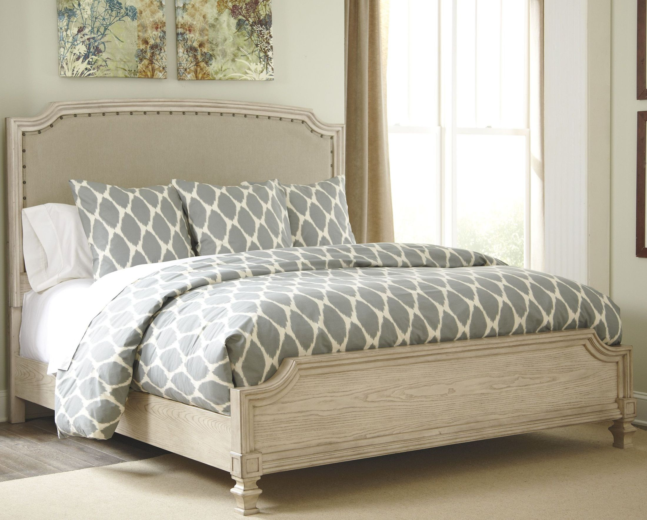 Demarlos Upholstered Panel Bedroom Set From Ashley B693