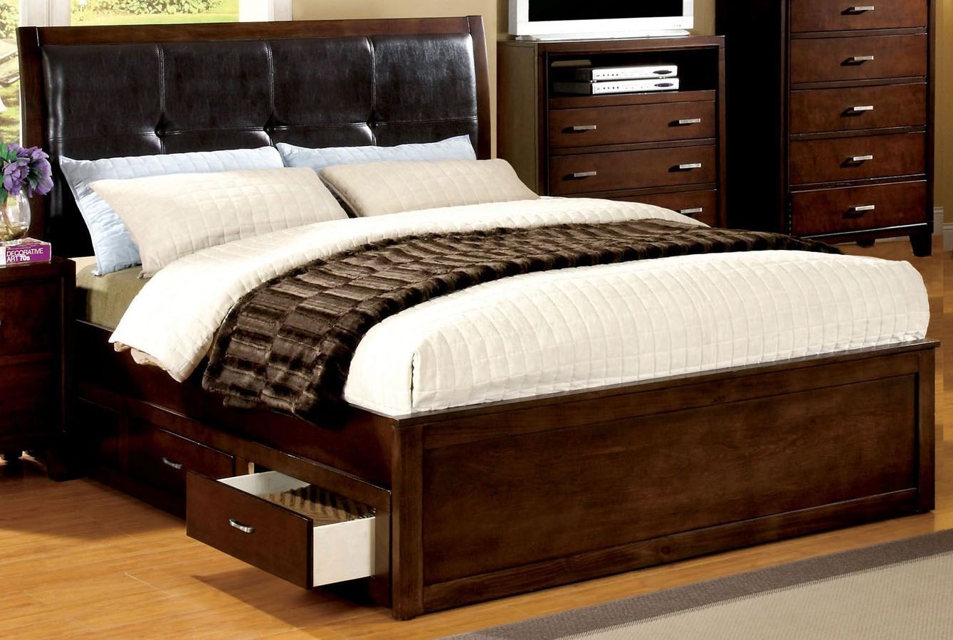Enrico Iv Cherry King Platform Storage Bed From Furniture